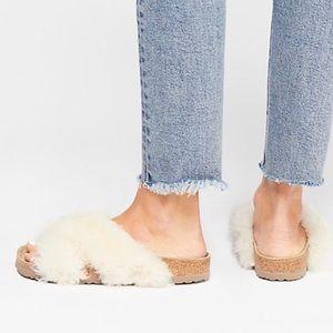 New Birkenstock Papillio Shearling Sandals